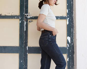 Blue petrol vintage Americano jeans denim high waist pants,jeans.size 26