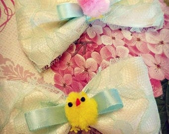 Spring Chick Bows