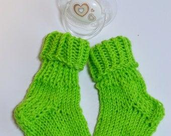 green toddler socks , baby socks , newborn socks , baby shower gift , baby gift , knitted baby socks ,  hand knit baby socks