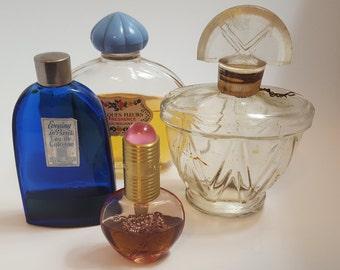 Lot of vintage perfume bottles. Evening in Paris