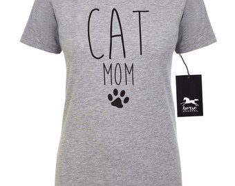 Cat Mom | Cat T Shirt | Feline | Cat Shirt | Women's Fitted Tee | Fashion Fit | Soft |