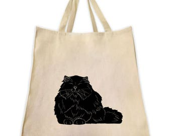 Pet Gifts, Canvas Tote Bag, Persian Cat Gifts for Cat Lovers, Gifts for Persian Cat Lovers And Owners, Shoulder Handbag and Grocery Tote