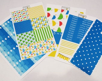 Little April Showers Weekly Sticker Kit for use with EC LifePlanner™/Happy Planners