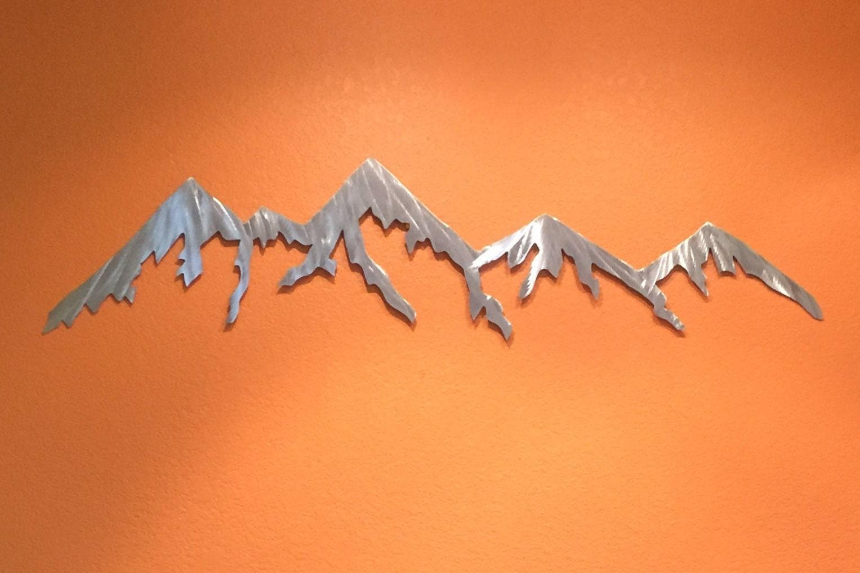 Metal Wall Art Mountain Landscapes : Aluminum metal wall art mountains for outside or inside