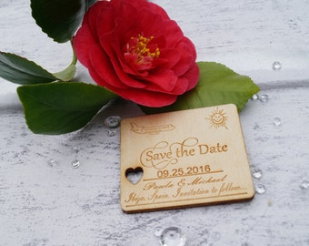wooden save the date, wedding stationery, save the date magnets, save the date, engraved stationery, personalised wedding,wedding invitation