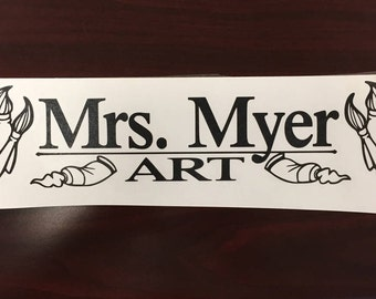 Art Teacher Subject Sticker