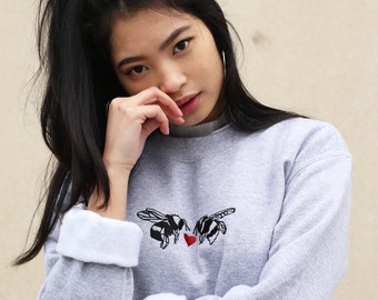 Embroidered 'meant to bee' Valentine sweater