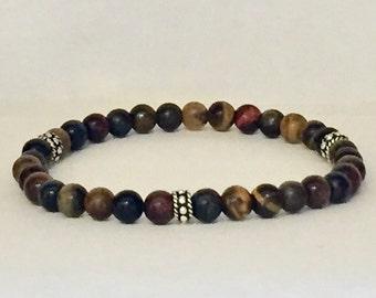 Men's tiger eye mix bracelet