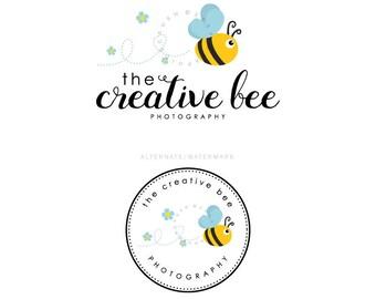 Abeja Logo Diseño Logo caprichosos niños Logo fotografía Logo lindo abeja