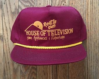 Vintage House of Television Snapback Hat Baseball Cap