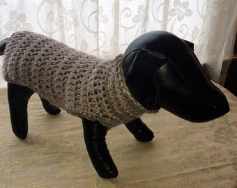 Hand Crocheted Dog Sweater
