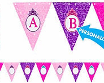 Disney Princess Personalized Pennant Banner Kit