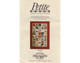 Paper-pieced Sampler block quilt pattern, vintage quilt pattern, paper piecing, foundation piecing