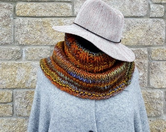 Chunky knit scarf | wool snood - knit capelet - knit cowl - infinity scarf - chunky cowl scarf - knit scarf - wool scarf - winter scarf cowl