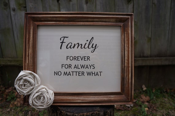 Rustic Family Sign Sign With Quote Picture Frame By