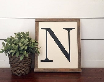 Rustic Monogram Wood Sign