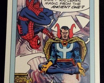 Spider-Man Presents Doctor Strange #158 - 1990 Marvel Universe Series 1 Base Trading Card