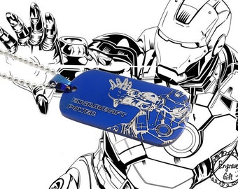 Personalized Laesr Engrave Etch Blueprint Graphic with your ideas,in Ironman blueprint reference