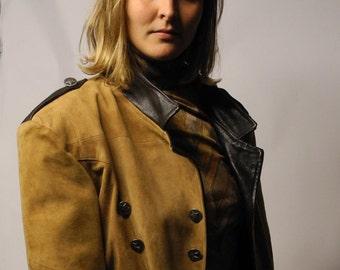 Suede Military Jacket Vintage