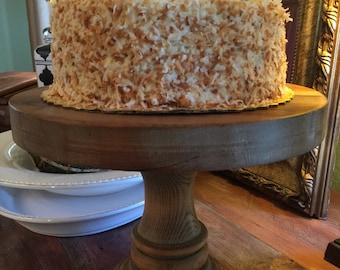 "Reclaimed Wood TCA Cake Stands - Free Shipping! 12"" Cake Stand - Wooden Cake Stand"