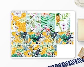 Planner Stickers Tropical Summer  Washi for Erin Condren, Happy Planner, Filofax, Scrapbooking