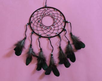 "Brown moss agate earthy 6"" dreamcatcher"