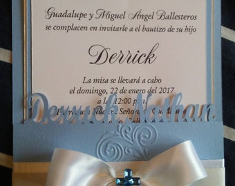 10 Stunning Personalized Baptism Invitations Boy or Girl