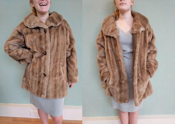 sold vintage neiman marcus mink faux fur coat womens. Black Bedroom Furniture Sets. Home Design Ideas