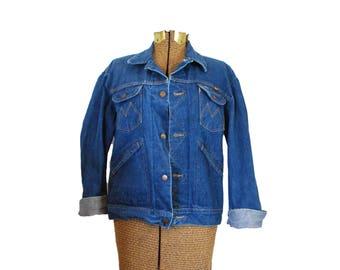70s Denim Jacket Vintage Jean Jacket Maverick Denim Jacket Vintage Denim Jacket Dark Wash Denim Jacket 1970s Jean Jacket 70s Jean Coat