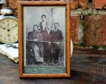 Family Portrait - Studio Portrait - Antique Photograph - Antique Photo in Frame - Old Photo - Black and White Photo - Vintage Photography