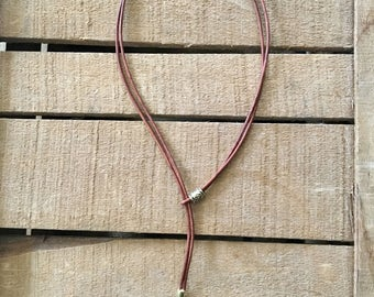 2 in 1 leather Necklace/Choker