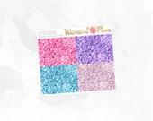 Sugar & Dreams Glitter Headers - Matte or Glossy Erin Condren Planner Stickers -