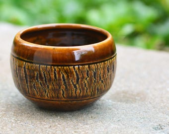 Dark Brown Planter // Handmade by Jackson Fyfe // One of a Kind, Great for Wedding Gift, Succulent Planter, Earthy Look