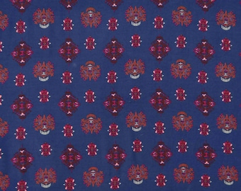 "Dressmaking Fabric, Floral Print, Navy Blue Fabric, Home Decor, Apparel Fabric, 54"" Inch Rayon Fabric By The Yard ZBR333A"