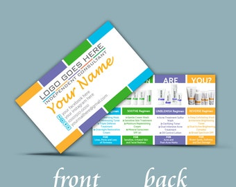 Custom Rodan and Fields Business cards, Personalized Business Card, Product Images on Back, Printable, Instant Download,
