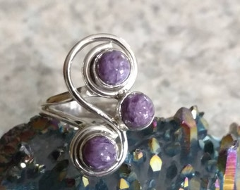 Charoite Ring, Size 6 1/2