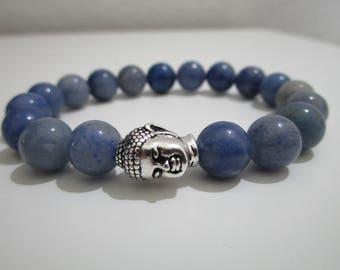 Aventurine, blue Aventurine bracelet, stones bracelet, beaded, gift for women, Yoga bracelet bracelet, Buddhist jewelry, Buddha, Zen Yoga