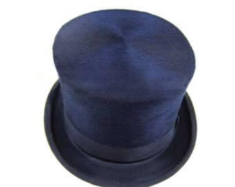 Vintage Meyers Beaver Fur Felt Black Top Hat | Black Tie | Wedding | Kentucky Derby | Prom | Formal