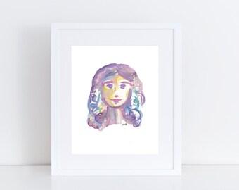 Feminist Art - Feminist Art Print - Empowered Woman Painting - Girl Boss Art - Girl Power - Girl Gang - Future is Female - Woman Watercolor