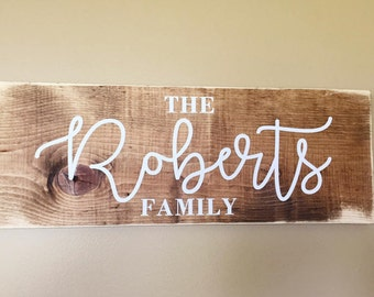 Family Name Sign | Last Name Sign | Wood Name Sign | Wedding Gift | Anniversary Gift | Wedding Sign | Family Established Wood Sign