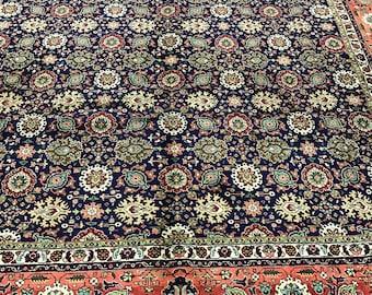 "9'9"" x 12'4"" Persian Tabriz Oriental Rug - 1950s - 50 Raj - Hand Made - 100% Wool"