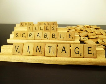 100 scrabble tiles, Sechlow & Righter, Wood Crossword,wooden letters,Collage, Scrapbooking,Jewelry,Art and Craft Project,wood,scoring racks