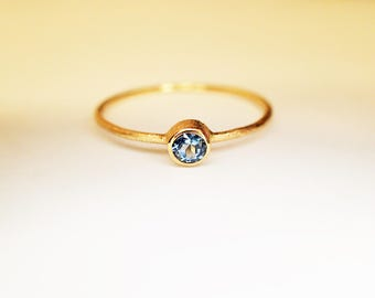 Gold 585 aquamarine ring