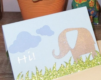 Hi! Elephant Card