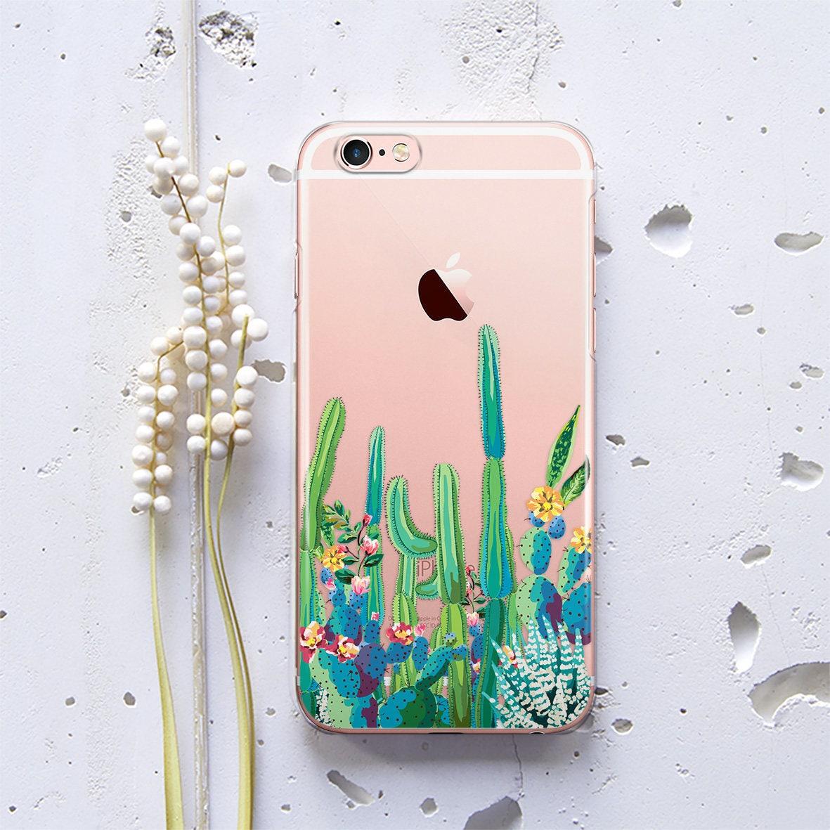 Phone Cases Custom Hardcase Midnight Dots Iphone 4 5 5c 6 Plus 7 Case Transparent Cactus Succulent Se