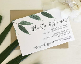 Printable Engagement Invitation, Greenery Wedding Invitations, Engagement Party Invites, Engagement Invitation, Printable Invitation