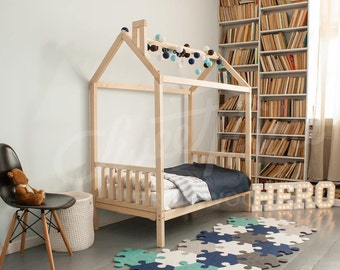 lit b b lit maison tente lit lit enfants maison en bois. Black Bedroom Furniture Sets. Home Design Ideas