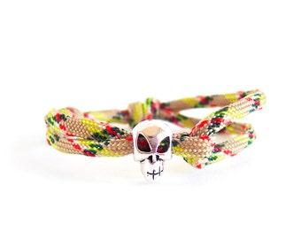 Mens Skull Bracelet, Skull Jewellery Gothic Bracelet, Skull Jewelry For Him
