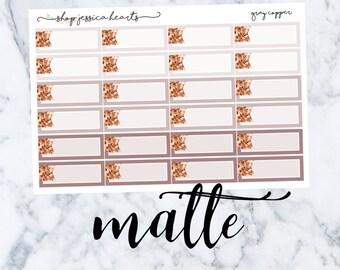 Gray Copper (MATTE) Glitter Appt Boxes