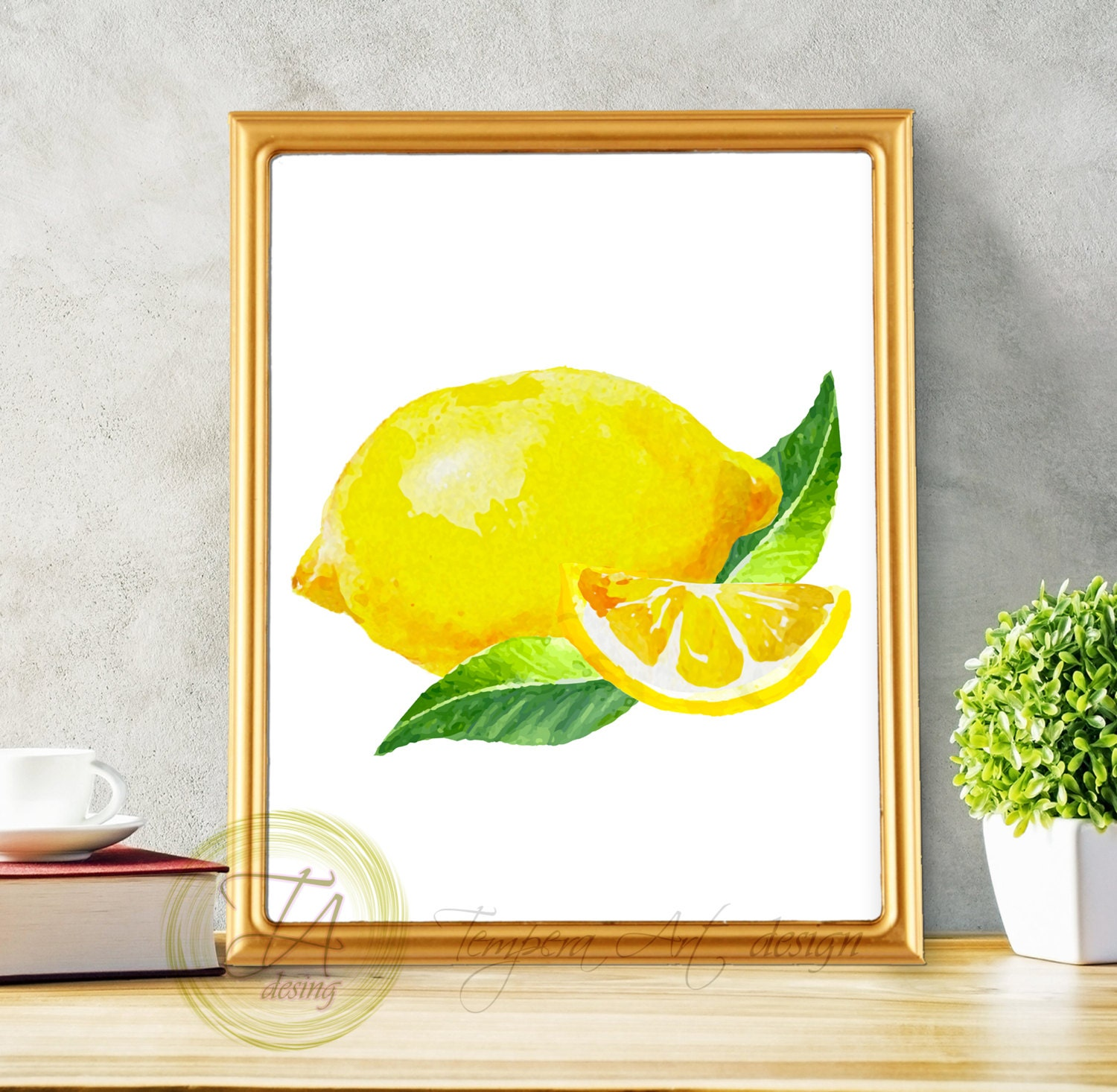Lemon Print Lemon Decor Lemon Wall Art Kitchen Print Lemon